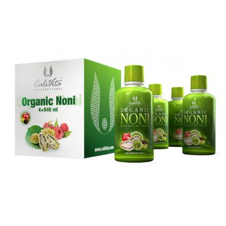 Organic Noni pack: Noni készítmény a sejtszintű egészségért (4 x 946 ml)